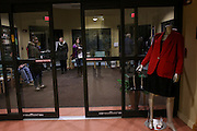 Weary exit pollers waiting for voters at the Tewsksbury Senior Center in Tewksbury, MA, Super Tuesday,  Tuesday, March 1, 2016.  CREDIT: Cheryl Senter for The New York Times