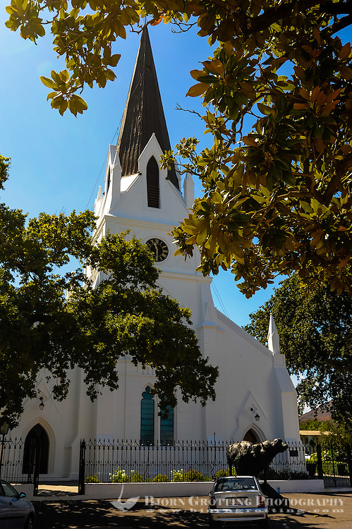 Stellenbosch is situated about 50 km east of Cape Town, South Africa.