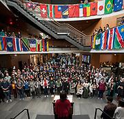 Gonzaga community gathered in Hemmingson Center for International Day of Tolerance. (GU photo by Zack Berlat)
