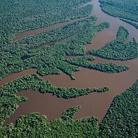 Vista aerea de lagos no Parque Estadual do Cantao, Caseara, Tocantins, Brasil, foto de Ze Paiva, Vista Imagens.