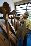 "Harps at Acade?mico de Lutheri?a, the main instrument making and repair facility of.the ""Fundacion del Estado para el Sistema Nacional de las Orquestas Juveniles e Infantiles de Venezuela"" (FESNOJIV, National Network of Youth and Children Orchestras of Venezuela). This organisation is also known as El Sistema, a publicly financed private-sector music-education program in Venezuela, originally called Social Action for Music, founded 1975 by Venezuelan economist and amateur musician Jose? Antonio Abreu."