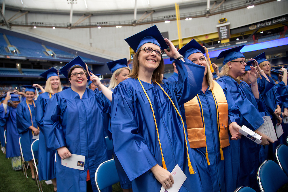 St Petersburg College 2014 Graduation at Tropicana Field, St Petersburg, Florida. Higher Education Photography, College Photography, University Photography, Campus Photography, Florida
