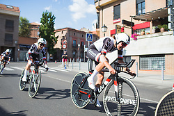 Lucinda Brand (NED) of Team Sunweb digs deep on Stage 1 of the Madrid Challenge - a 12.6 km team time trial, starting and finishing in Boadille del Monte on September 15, 2018, in Madrid, Spain. (Photo by Balint Hamvas/Velofocus.com)