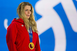 19.02.2014, Olympic Park, Adler, RUS, Sochi, 2014, Medaillenfeier, im Bild Patrizia Kummer (SUI) waehrend der Medaillenfeier // during Medal Ceremony of the Olympic Winter Games Sochi 2014 at the Olympic Park in Adler, Russia on 2014/02/19. EXPA Pictures © 2014, PhotoCredit: EXPA/ Freshfocus/ Urs Lindt<br /> <br /> *****ATTENTION - for AUT, SLO, CRO, SRB, BIH, MAZ only*****