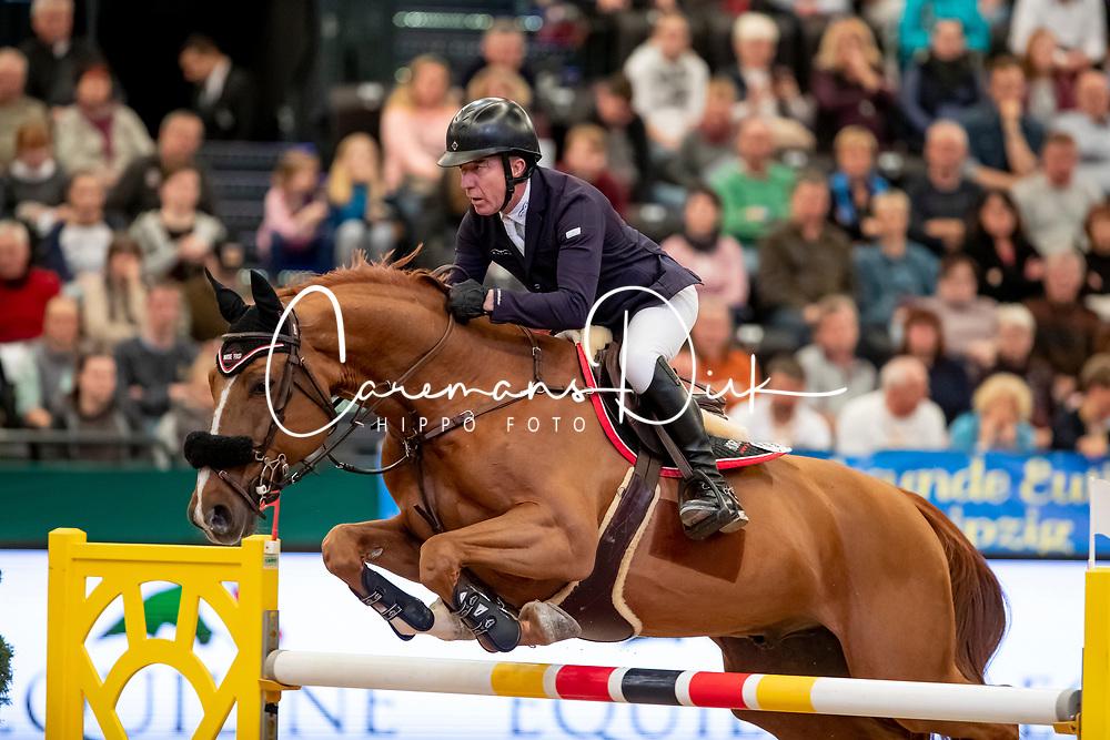 Whitaker Michael, GBR, Arlo de Blondel<br /> Leipzig - Partner Pferd 2019<br /> © Hippo Foto - Stefan Lafrentz