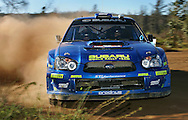 PERTH, AUSTRALIA - NOVEMBER 12:  Chris Atkinson of Australia and the Subaru Rally Team in action during Rally Australia, which is Round 16 of the FIA World Rally Championships November 12, 2005 in Bannister near Perth, Australia.  (Photo by Paul Kane/Getty Images) *** Local Caption *** Chris Atkinson