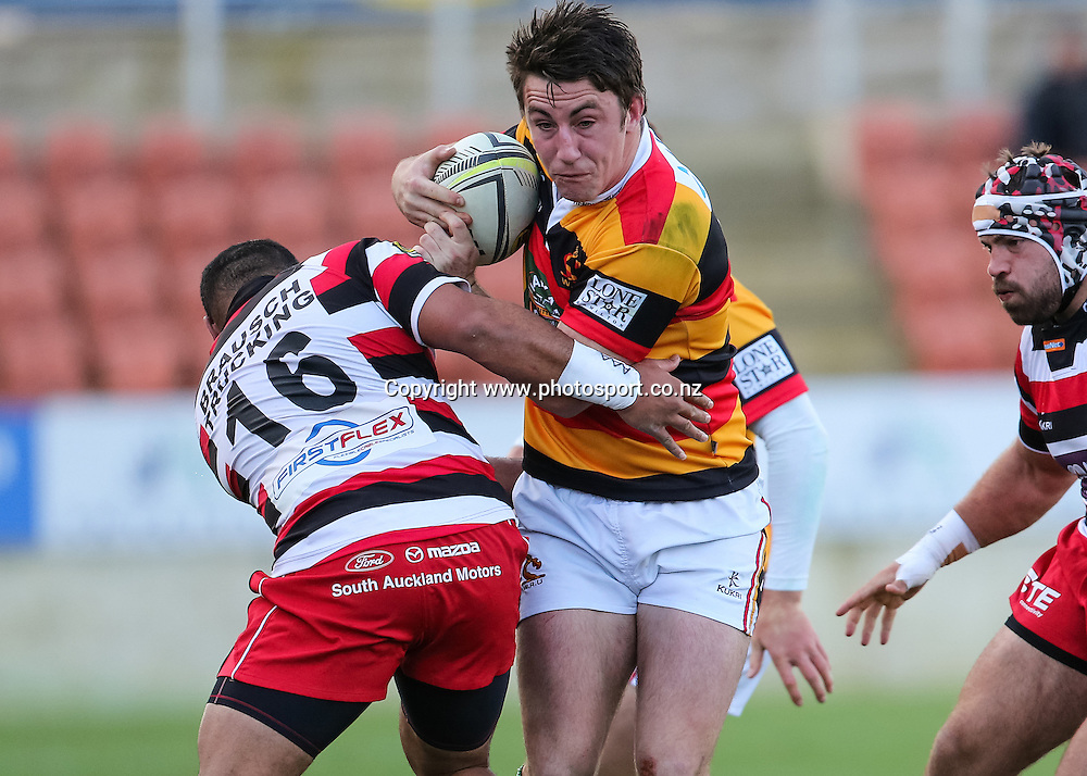 Waikato's Shane Anderson in action during the ITM Cup rugby match - Waikato v Counties Manukau at Waikato Stadium, Hamilton on Sunday 14 September 2014.  Photo: Bruce Lim / www.photosport.co.nz