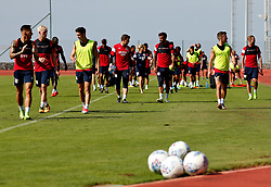 Bristol City players leave the pitch after a training match - Mandatory by-line: Matt McNulty/JMP - 19/07/2017 - FOOTBALL - Tenerife Top Training Centre - Costa Adeje, Tenerife - Pre-Season Training