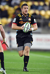 Chiefs Nathan Harris against the Hurricanes in the Super Rugby match at Westpac Stadium, Napier, New Zealand, Friday, April 13, 2018. Credit:SNPA / Ross Setford