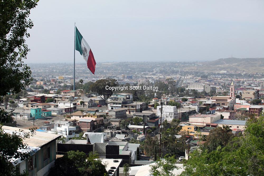 The Mexican flag flies over Tijuana, Mexico on April 27, 2010. (Photo/Scott Dalton)
