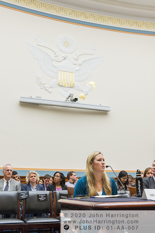 """Danae Ringelmann, Founder & CCO, Indiegogo, testifies before the House Committe on the Judiciary on """"Innovation in America: The Role of Technology"""", August 1, 2013on Capitol Hill in Washington, DC."""