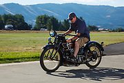 An early Henderson motorcycle at WAAAM.