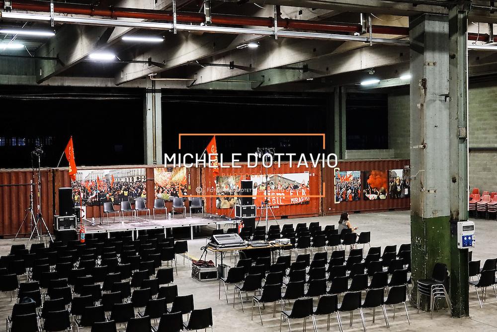 Festa FIOM TORINO 2016  presso lo spazio MRF – capannone ex DAI Mirafiori. Torino 8 settembre 2016