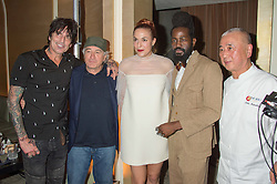 Left to right, TOMMY LEE, ROBERT DE NIRO,  MARY ALICE MALONE, ROY LUWOLT and NOBU MATSUHISA at a party to celebrate the 10th anniversary of Nobu Berkeley Street held on 5th November 2015.