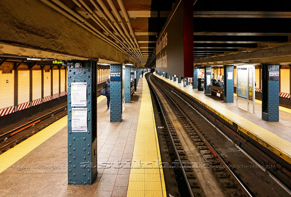 Subway Station in Manhattan, NYC, USA.