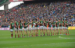 Mayo stand for the national anthem at Croke Park.<br /> Pic Conor McKeown
