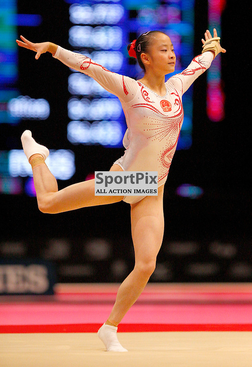 2015 Artistic Gymnastics World Championships being held in Glasgow from 23rd October to 1st November 2015...Jiaxin Tan (Peoples Republic of China) competing in the Floor Exercise competition...(c) STEPHEN LAWSON | SportPix.org.uk