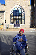 I stumbled upon Janice Jones who lost her leg in a drive by shooting. She was an innocent bystander. She is outside the Clayborn Temple in downtown Memphis where the I Am A Man movement organized. As the anniversary of the death of Martin Luther King approaches, many people are asking the question, have things gotten better? #civilrights #mlk50 #IAM18 (Photo By Karen Pulfer Focht)