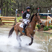 Waylon Roberts (CAN) and Kelecyn Cognac at the Red Hills International Horse Trials in Tallahassee, Florida.