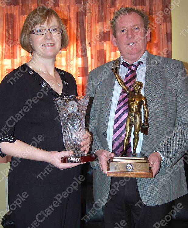Clare AAI Overall Award Winners with the West County Hotel Trophy were John and Brid Collins from Kilnaboy.&nbsp;<br /> Clare AAI Overall Award Winners with the West County Hotel Trophy were John and Brid Collins from Kilnaboy.&Ecirc;