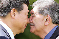 CHINESE PRESIDENT XI JINPING IS GREETED WITH A HONGI, WELLINGTON