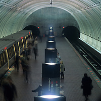 USA, Maryland, Washington Metro subway station in downtown Bethesda