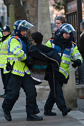 © under license to London News Pictures. 9/12/2010.  On the day that MPs vote on tuition fees, 1000s demonstrated in London against a proposed rise in fees and cuts in support. Credit should read Matt Cetti-Roberts/London News Pictures