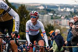 BARNES Hannah of Canyon SRAM Racing during 1st lap on local circuit, UCI Women WorldTour 81st La Flèche Wallonne at Huy Belgium, 19 April 2017. Photo by Pim Nijland / PelotonPhotos.com | All photos usage must carry mandatory copyright credit (Peloton Photos | Pim Nijland)