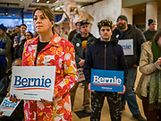 20 JANUARY 2020 - DES MOINES, IOWA: People listen to State Senator Nina Turner (D-OH)  talk about Sen. Bernie Sanders at the State Historical Museum of Iowa in Des Moines. Sen. Sanders is in Iowa campaigning to be the Democratic presidential nominee in 2020. Iowa hosts the first selection event of the presidential election cycle. The Iowa Caucuses are Feb. 3, 2020.        PHOTO BY JACK KURTZ