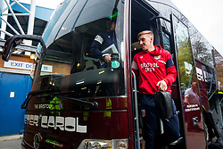 Connor Lemonheigh-Evans of Bristol City arrives on the coach - Rogan/JMP - 18/11/2017 - Hillsborough Stadium - Sheffield, England - Sheffield Wednesday v Bristol City - Sky Bet Championship.