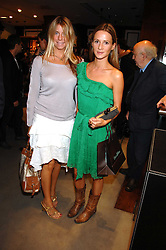 Left to right, FABERGE HARWOOD-LUCAS-BOX and AMANDA CROSSLEY at a party to celebrate the launch of Diesel's new mens & womens fragrances 'Fule for Life' at their newly reopened store on the Kings Road, London on 13th September 2007.<br />