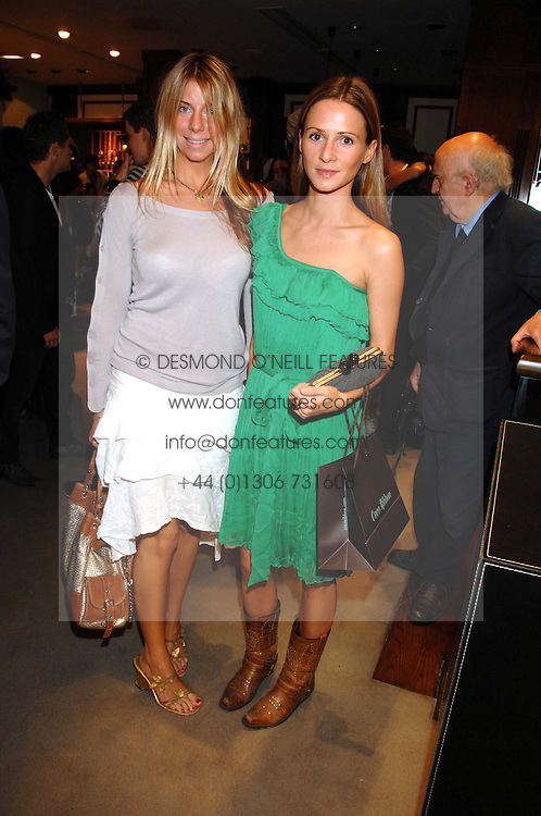 Left to right, FABERGE HARWOOD-LUCAS-BOX and AMANDA CROSSLEY at a party to celebrate the launch of Diesel's new mens & womens fragrances 'Fule for Life' at their newly reopened store on the Kings Road, London on 13th September 2007.<br /><br />NON EXCLUSIVE - WORLD RIGHTS