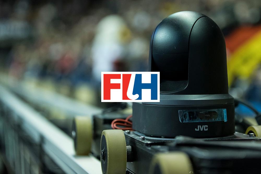 Hockey, Seizoen 2017-2018, 09-02-2018, Berlijn,  Max-Schmelling Halle, WK Zaalhockey 2018 MEN, Germany - Switzerland 3-0, riding camera. Worldsportpics copyright Willem Vernes