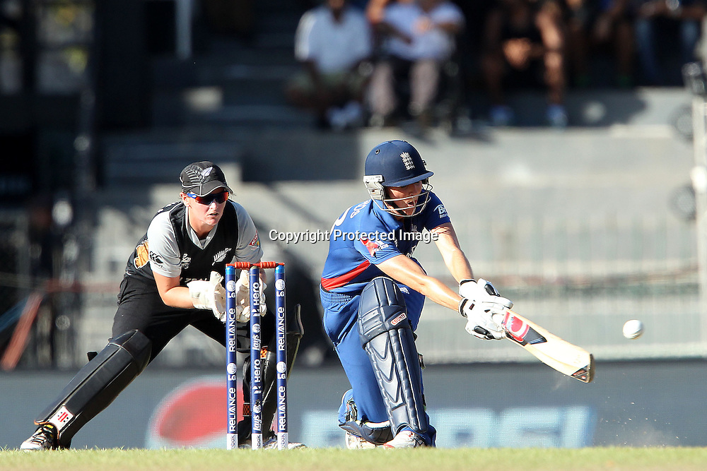 Charlotte Edwards of England during the ICC Women's World Twenty20 Semi final match between England and New Zealand held at the Premadasa Stadium in Colombo, Sri Lanka on the 4th October  2012<br /> <br /> Photo by Ron Gaunt/SPORTZPICS/PHOTOSPORT