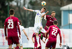 Aleks Pihler of Maribor vs Aleš Mertelj of Triglav during Football match between NK Triglav and NK Maribor in 25th Round of Prva liga Telekom Slovenije 2018/19, on April 6, 2019, in Sports centre Kranj, Slovenia. Photo by Vid Ponikvar / Sportida
