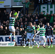 Celtic&rsquo;s Jozo Simunovic is congratulated by Dedryck Boyata after scoring  - Dundee v Celtic in the Ladbrokes Scottish Premiership at Dens Park, Dundee.Photo: David Young<br /> <br />  - &copy; David Young - www.davidyoungphoto.co.uk - email: davidyoungphoto@gmail.com