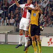 NLD/Amsterdam/20060928 - Voetbal, Uefa Cup voorronde 2006, Ajax - IK Start, Markus Rosenberg in duel