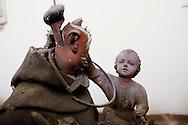 Napoli, Italia - Statue sacre distrutte dall'incuria all'interno della chiesa del Gesu e Maria a Napoli.<br /> Ph. Roberto Salomone Ag. Controluce<br /> ITALY - Destroyed holy staues are seen the church of   Gesu e Maria  in Naples on July 25, 2013.