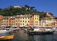 boats in Portofino Harbour<br /> Liguria, Italy