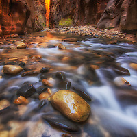Deep within the Narrows in Zion National Park, Utah.
