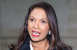 London, December 10 2017. Anti-Brexit campaigner Gina Miller at the BBC's Broadcasting House in London after her appearance on the Andrew Marr Show. © Paul Davey