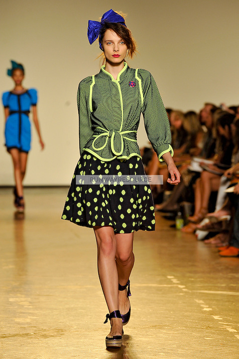 Jules Mordovets walks the runway wearing Marc by Marc Jacobs Spring 2010 collection during New York Mercedes-Benz fashion week on September 15, 2009.