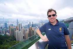 HONG KONG, CHINA - Friday, July 21, 2017: Liverpool legend Robbie Fowler visits Victoria Peak to see the views of Hong Kong harbour during day five of the Premier League Asia Trophy 2017. (Pic by David Rawcliffe/Propaganda)