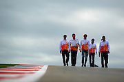 Nov 15-18, 2012: Nico Hulkenberg and Force India F1 team track walk.© Jamey Price/XPB.cc