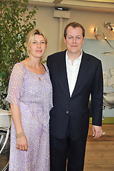 TOM & SARA PARKER BOWLES at a party to celebrate the publication on 'Let's Eat: Recipes From My Kitchen Notebook' by Tom Parker Bowles held at Selfridge's Rooftop. Selfridge's, Oxford Street, London on 27th June 2012.