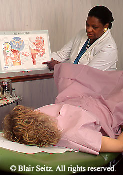 Medical, Doctor, Physician at Work, African American Female Physicians  Performs Gynecological Exam Gynecologist, Gynecology