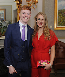 Niall McManamon and Annie Duffy pictured at the Westport GAA All Ireland celebration banquet at the Castlecourt Hotel last.<br />