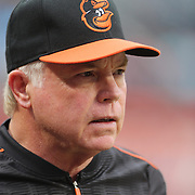 Buck Showalter the Baltimore Orioles Manager during the New York Mets Vs Baltimore Orioles MLB regular season baseball game at Citi Field, Queens, New York. USA. 5th May 2015. Photo Tim Clayton