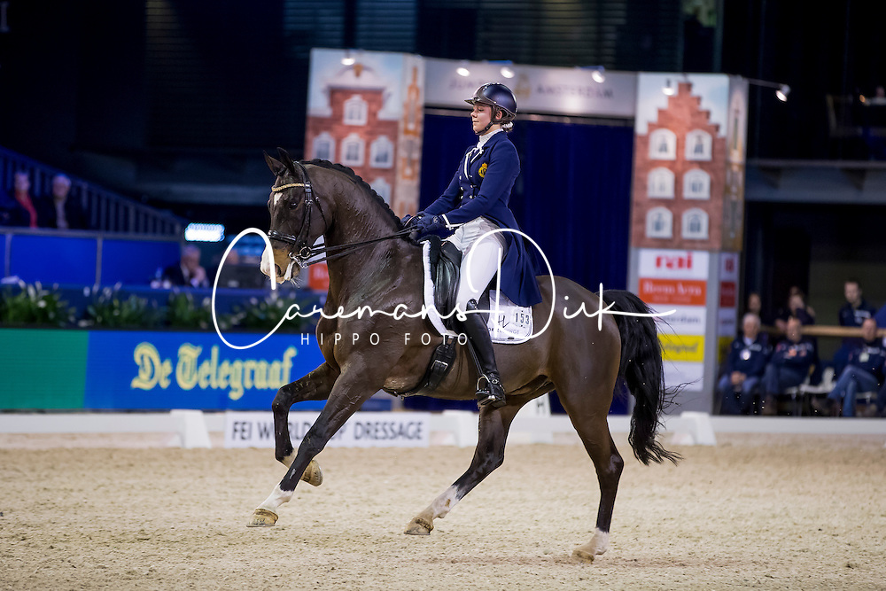 Roos Laurence, BEL, Fil Rouge<br /> FEI World Cup Dressage - Grand Prix<br /> Jumping Amsterdam 2017<br /> &copy; Hippo Foto - Leanjo de Koster<br /> 27/01/17