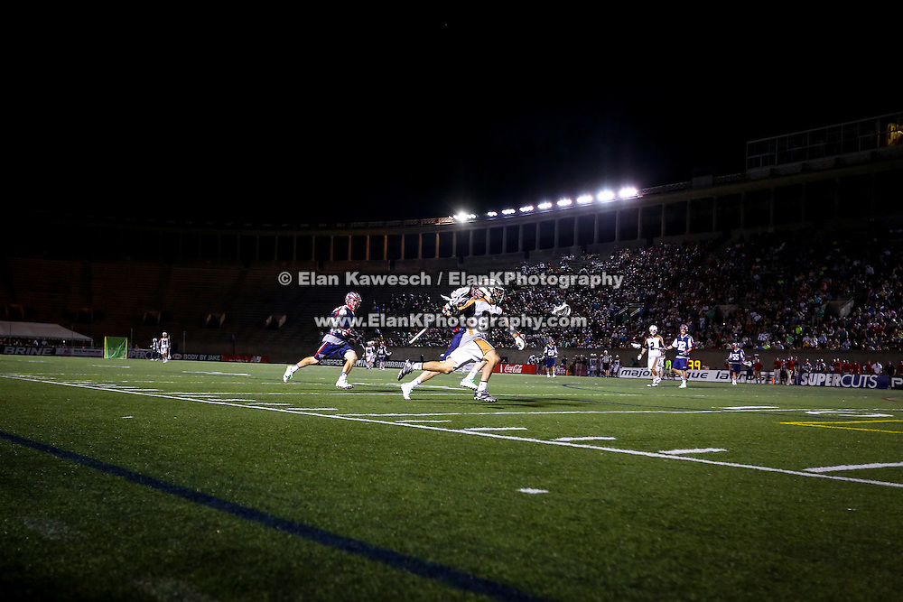 Jordan Wolf #32 of the Rochester Rattlers controls the ball during the game at Harvard Stadium on August 9, 2014 in Boston, Massachusetts. (Photo by Elan Kawesch)